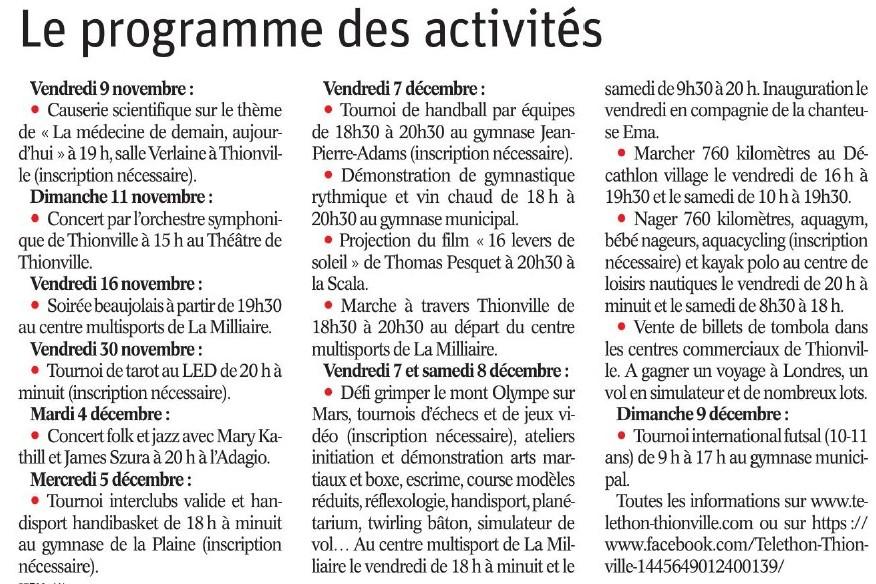 Téléthon Thionville