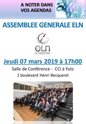 Assemblée générale ELN @ Salle de Conférence CCI Yutz